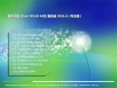 番茄花园Ghost Win10 (64位) 内部装机版2016v11(自动激活)